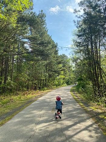 American Tobacco Trail child scooter