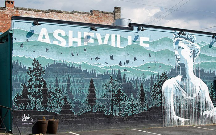 Asheville North Carolina Street Mural Image