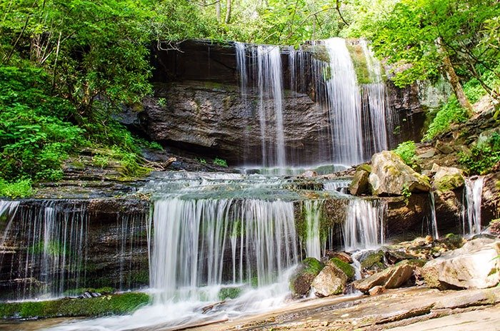 Grassy Creek Falls Little Switzerland Image
