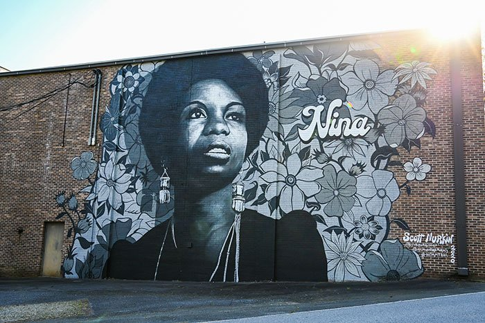 Day Trips from Asheville Nina Simone Mural Tryon NC