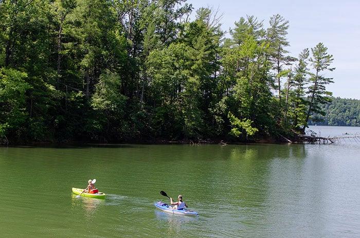 Lake James State Park near Asheville NC