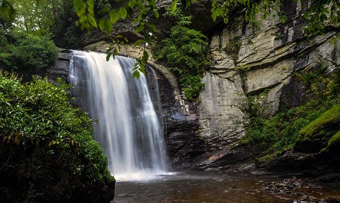 Looking Glass Falls Transylvania County NC