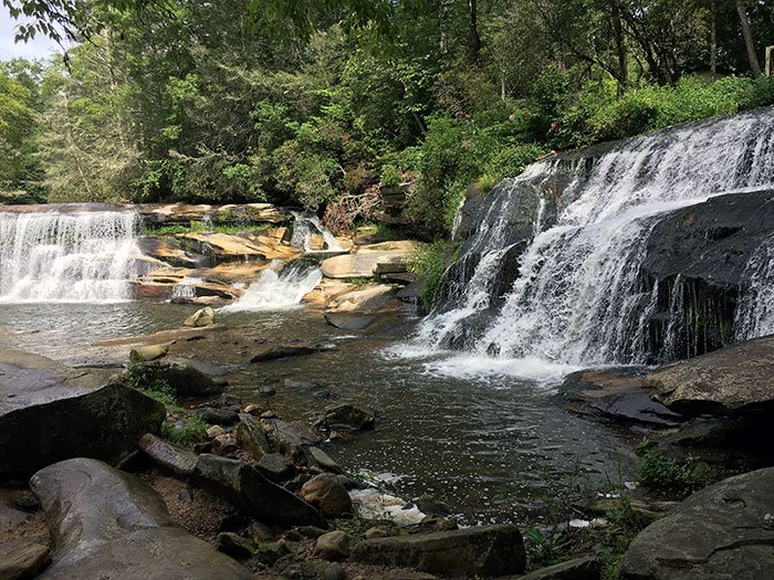Mill Shoals and French Broad Falls NC