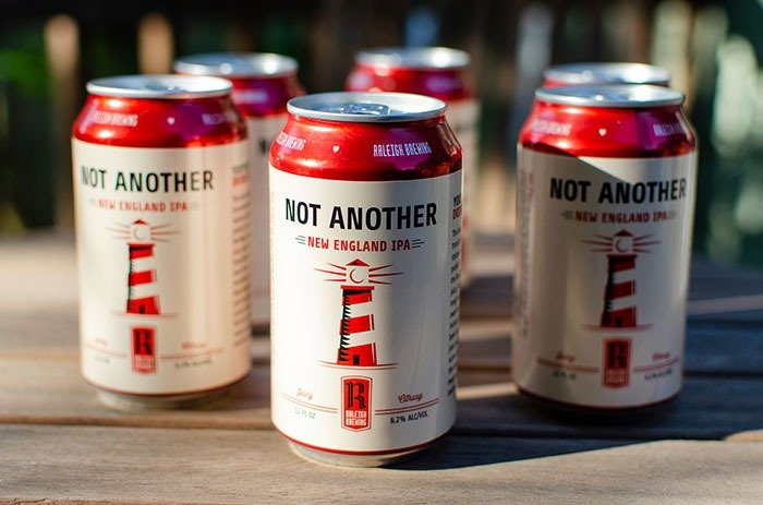 Raleigh Brewing Not Another IPA Cans