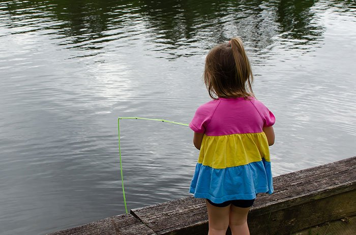 Kids can even enjoy some fishing at Chetola!