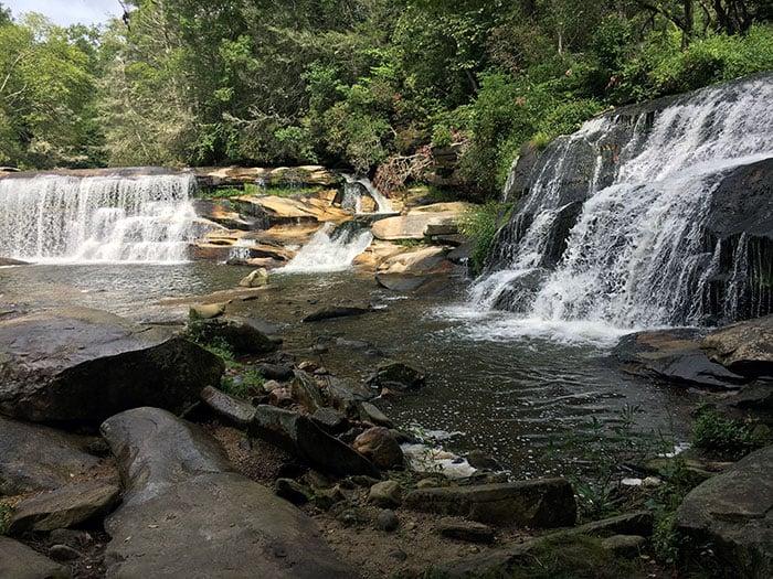 French Broad Falls and Mill Shoals Falls NC