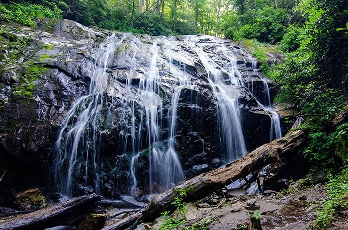 Glen Burney Falls is our favorite of all the waterfalls near Blowing Rock.