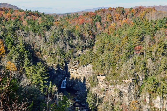Hiking near Morganton NC Linville Falls