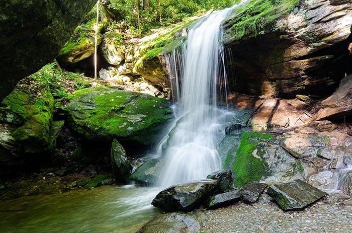 Otter Falls waterfall near boone 1