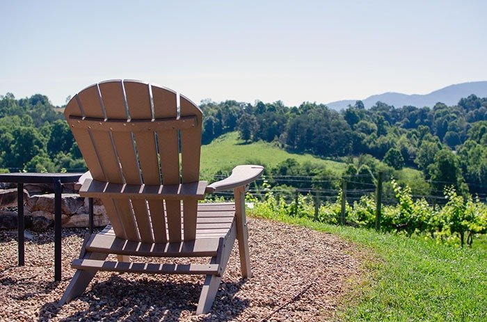 The view from Silver Fork Winery is amazing. The wine also helps land this on our list of top things to do in Morganton.