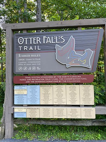 Trail map at Otter Falls
