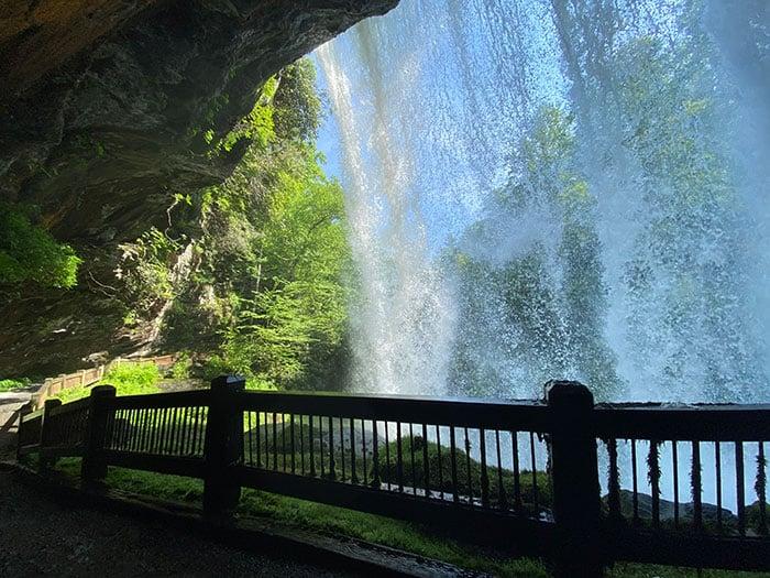 Walking behind Dry Falls is so cool!
