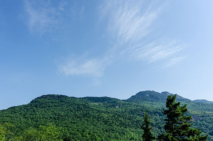 Grandfather Mountain looks lovely from Beacon Heights.