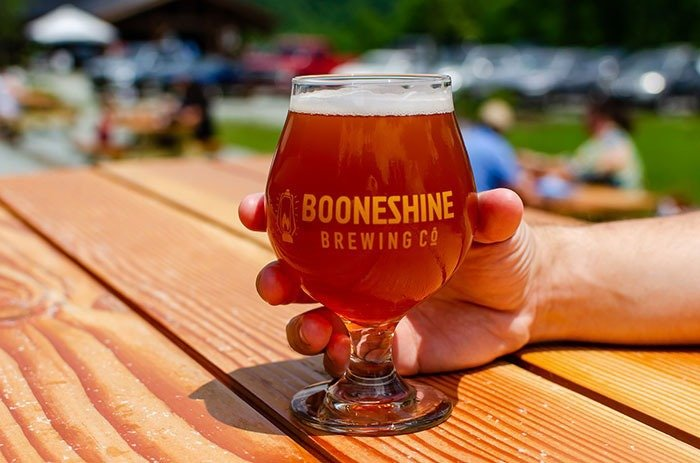 """Booneshine wins for """"best scenery"""" among the breweries in Boone."""