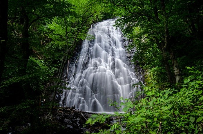 Crabtree Falls near Asheville Blowing Rock Boone NC