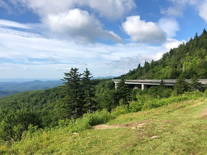 Linn Cove Viaduct is a great stop just a mile away from Beacon Heights!