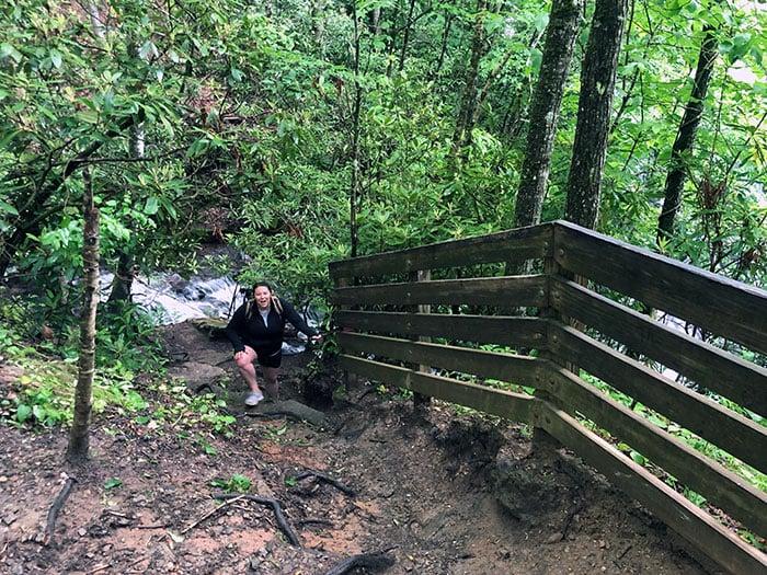 Soco Falls Hike