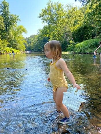 Swimming at Eno River State Park 1