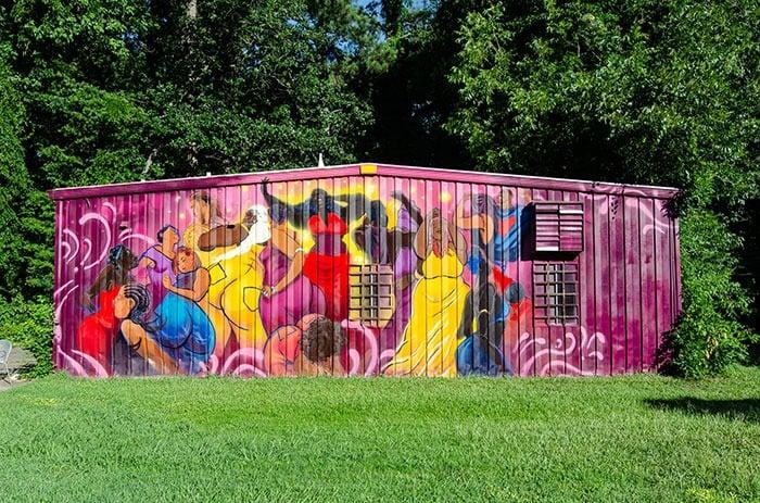 Beautiful murals all around at Satellite Park.