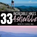 Asheville hikes Pinterest image