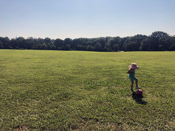 We love all the space at the Dorothea Dix Park Big Field.
