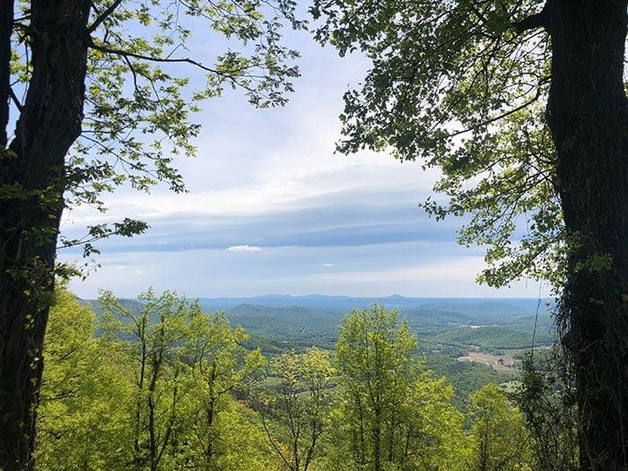 High Piney Spur Overlook NC Blue Ridge Parkway Stops