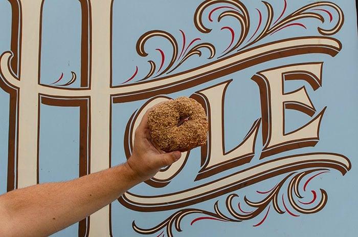 Hole Doughnuts blue bus