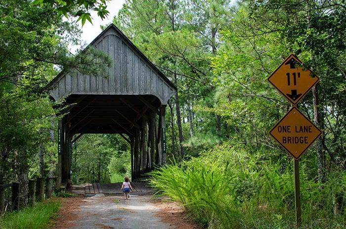 Kitty Hawk Woods Covered Bridge
