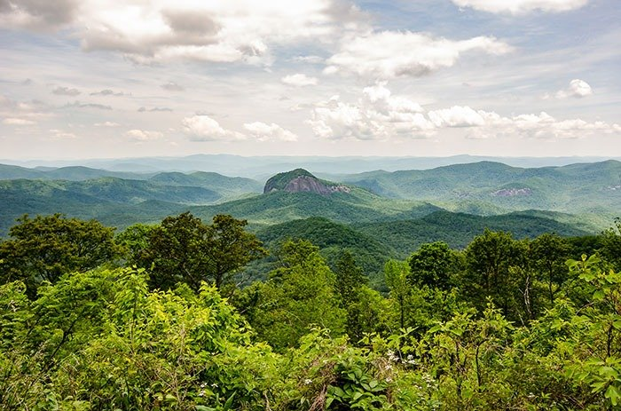 Looking Glass Rock NC Hikes near Asheville