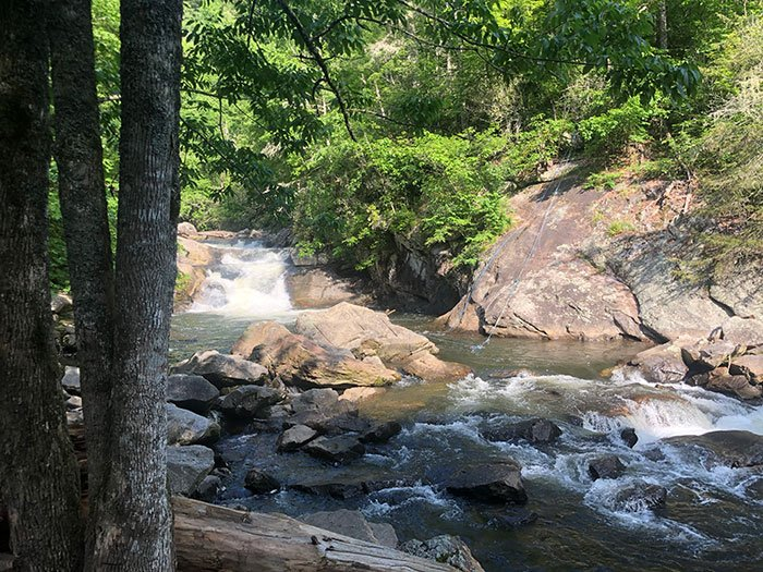 Bust Your Butt Falls Waterfalls in North Carolina