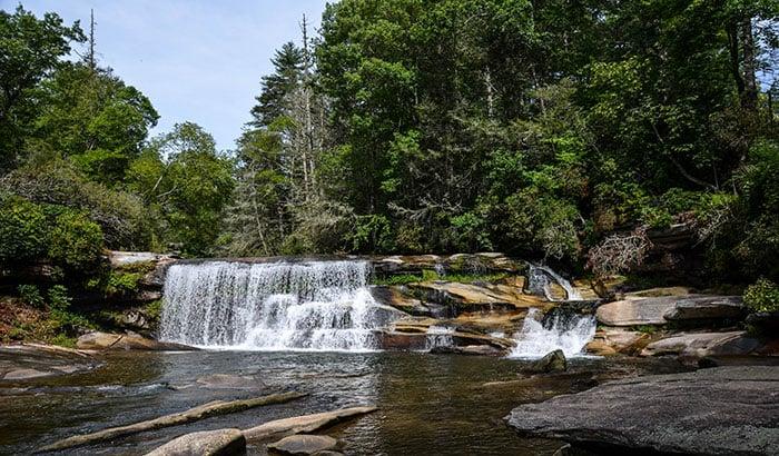 French Broad Falls Waterfalls in North Carolina