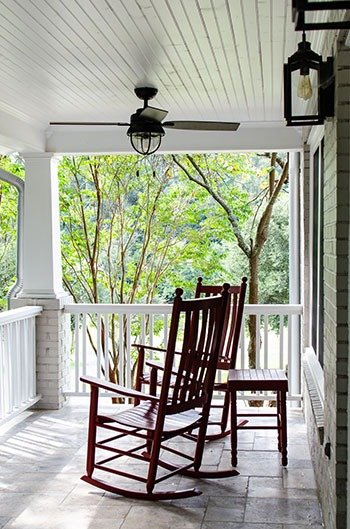 Front porch at the Kinsleeshop Farm Statesville NC