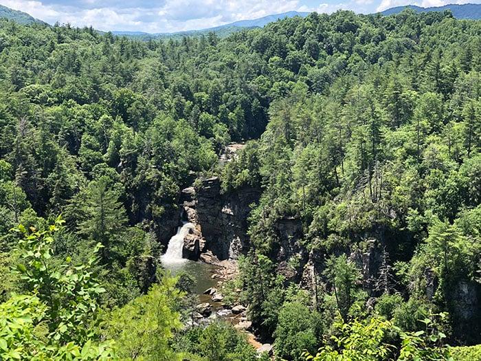 Linville Falls near Roaring Fork Falls NC