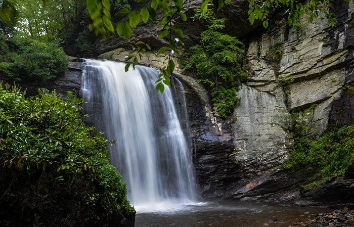 Looking Glass Falls Waterfalls in North Carolina