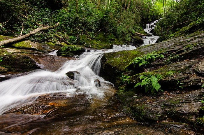Roaring Fork Falls Waterfalls in North Carolina