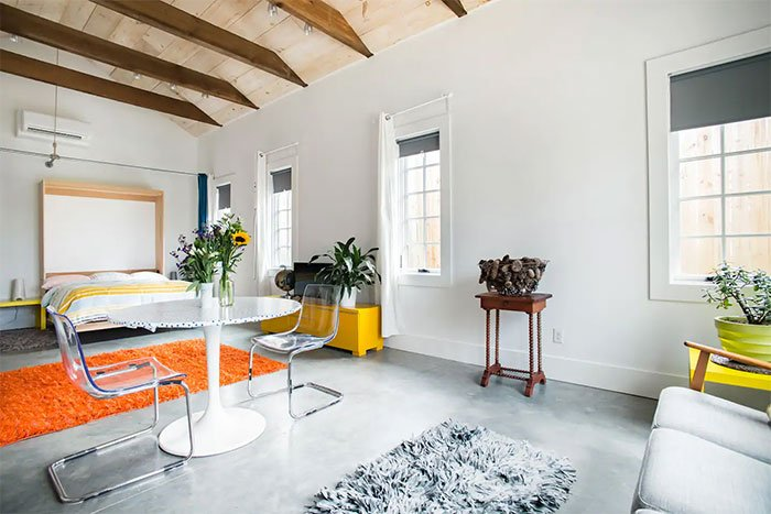 The Red Pad Airbnbs in Asheville Image Courtesy of Airbnb