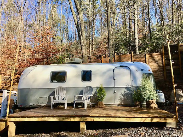 The RhodoDen Airstream Airbnbs in Asheville Image Courtesy of Airbnb
