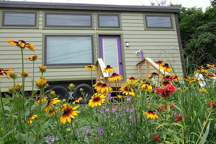 Tiny Home at the Gardens Airbnbs in Asheville Image Courtesy of Airbnb