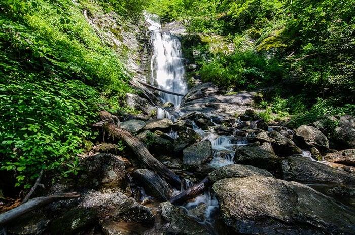 Toms Creek Falls Waterfalls in North Carolina