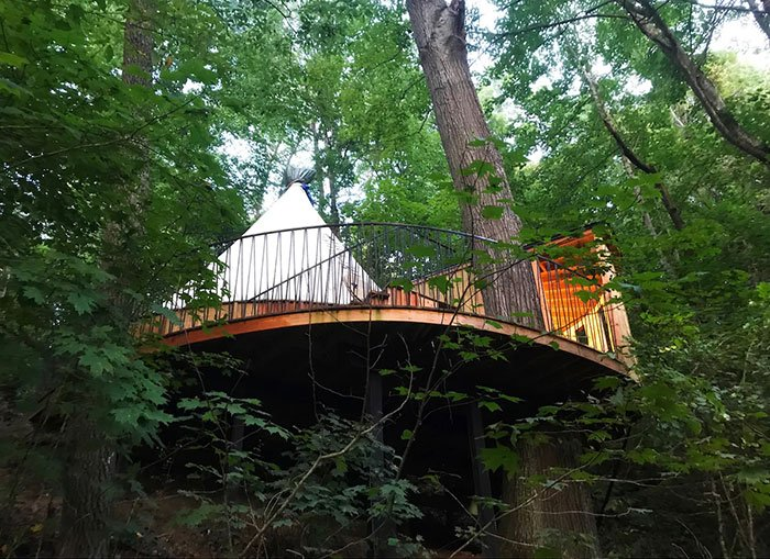 TreeTop Tipi Image Credit Airbnb