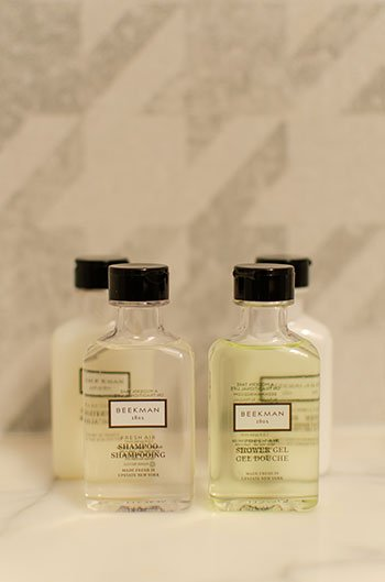 Bath products at The Dunhill