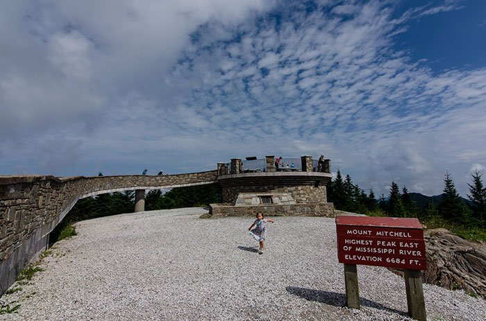 Black Mountains Hikes Mount Mitchell Observation Tower