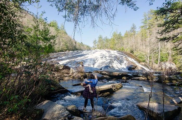 Bridal Veil Falls inside DuPont State Recreational Forest NC
