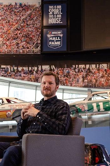 Dale Earnhardt JR at Nascar Hall of Fame