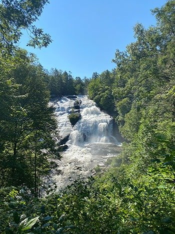 High Falls Viewed from the Trail Overlook