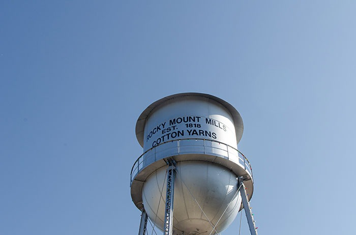 Rocky Mount Mills water tower