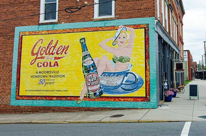 Sun drop mural things to do in Mooresville NC