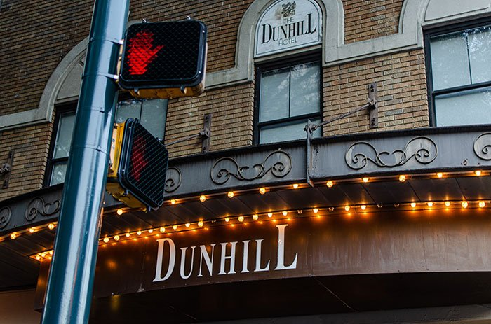 The sign of The Dunhill Charlotte