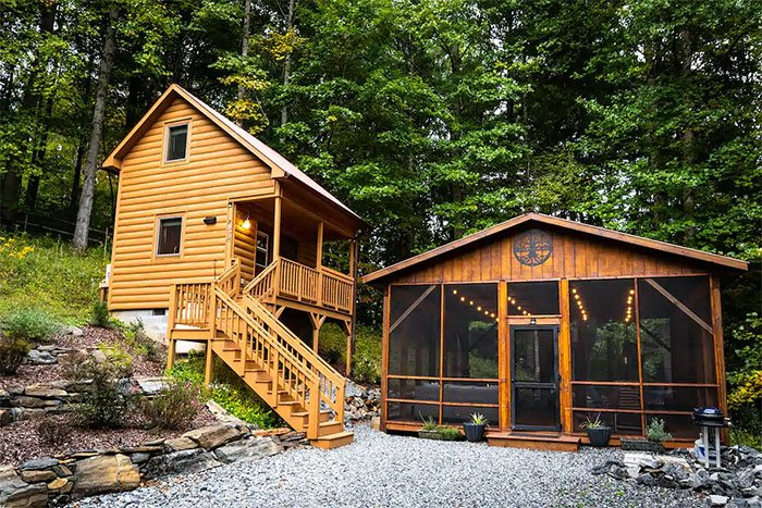 Tiny Cabin in Todd Boone Airbnbs Image Courtesy of Airbnb