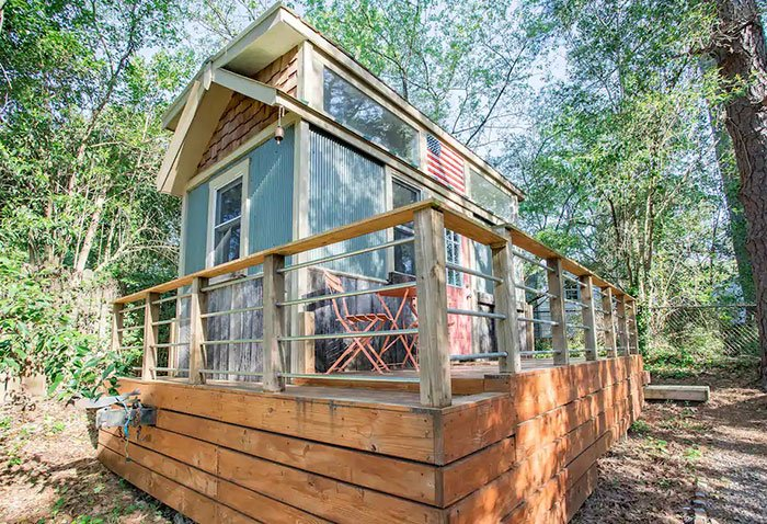 Tiny House in the Trees Durham Airbnb